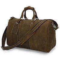 Дорожная мужская прочная сумка из кожи