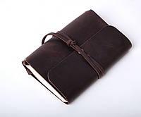 Кожаный блокнот А6 «Nota6 Brown» унисекс Коричневый (15x11 см) ручной работы от pan Krepko