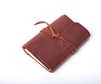 Кожаный блокнот А6 «Nota6 Cognac» унисекс Янтарный (15x11 см) ручной работы от pan Krepko