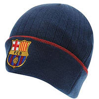 Шапка бини Team Barcelona темно-синяя