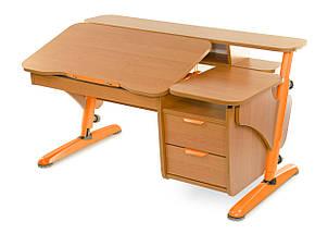 Детская парта растишка стол трансформер Pondi / Понди Эргономик с тумбой из ДСП, фото 2