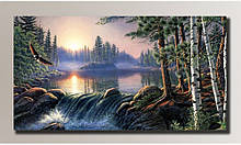 """Картина на холсте """"Живопись пейзаж"""" для интерьера"""