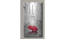 """Картина на холсте """"Красный зонтик в Париже"""" для интерьера"""