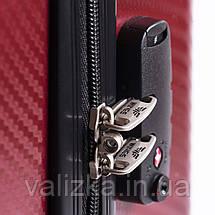 Комплект чемоданов из поликарбоната премиум серии W-5223 3 штуки для ручной клади, средний и большой бордовый, фото 2