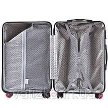 Комплект чемоданов из поликарбоната премиум серии W-5223 3 штуки для ручной клади, средний и большой бордовый, фото 3
