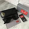 Солнцезащитные очки RAY BAN 2140 Wayfarer черный стекло - Фото