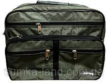 Мужская зеленая сумка на плечо Saruss 30*25*15 см