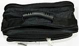 Мужская черная сумка на плечо Saruss 30*25*15 см, фото 3