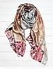 """Шелковый шарф Fashion """"Поцелуй"""" (Климт) 190*100 см серый/пудровый"""