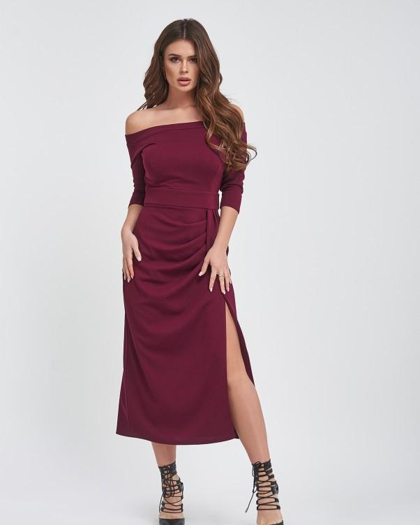 Платья  11418  L бордовый M