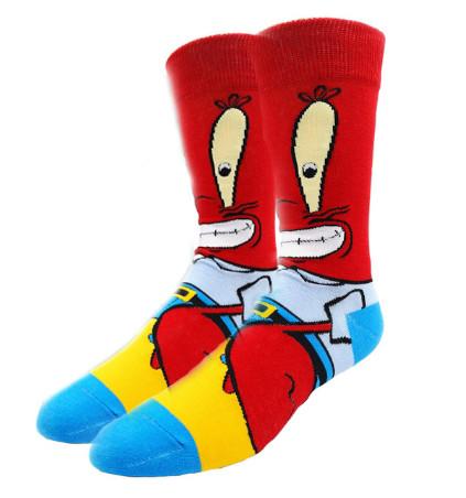 Прикольные высокие мужские носки Крабс
