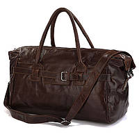 Вместительная кожаная дорожная сумка