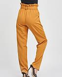 Горчичные свободные брюки с высокой посадкой, фото 2