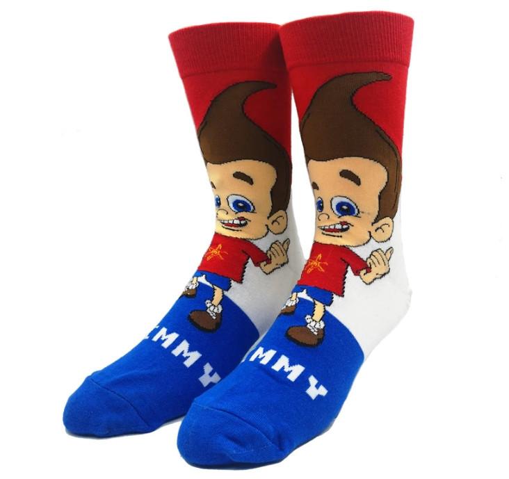 Мультяшные высокие мужские носки Джимми Нейтрон