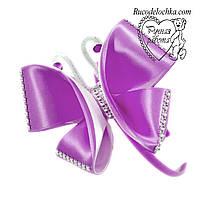 Фіолетова метелик 13 см на обручі, шпильці прикраса ручної роботи Будь-які кольори, фото 1