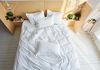 Комплект сатинового постельного белья Leglo Blanche Евро
