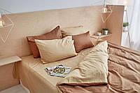 Комплект сатинового постельного белья Leglo Latte Евро