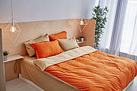 Комплект сатинового постельного белья Leglo Orange Евро