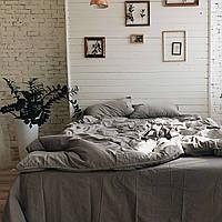 Комплект постельного белья из вареного хлопка Leglo Grey Семейный