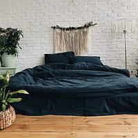 Комплект постельного белья из вареного хлопка Leglo Navy Семейный