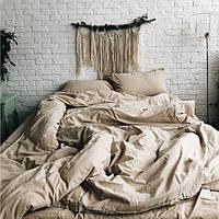Комплект постельного белья из вареного хлопка Leglo Almond Евро