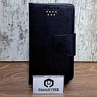 """Универсальный чехол книжка для Смартфона размером 4,3"""" дюйма Mercury Черный"""