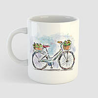 Кружка с принтом Велосипед арт 2. Чашка с фото, фото 1
