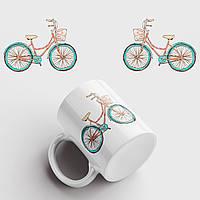 Кружка с принтом Велосипед арт 3. Чашка с фото, фото 1
