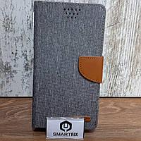 """Универсальный чехол книжка для Смартфона размером 5,5"""" дюйма Goospery Серый"""