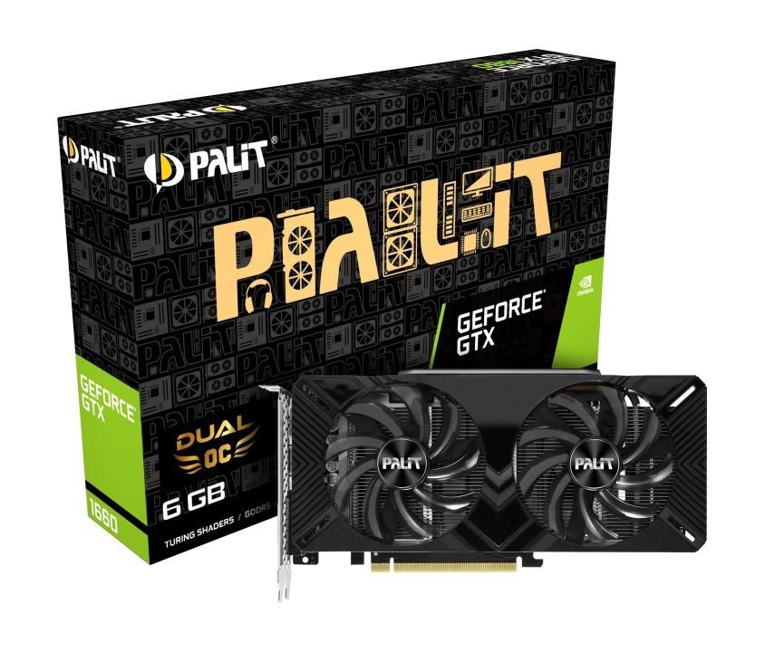 Видеокарта GF GTX 1660 6GB GDDR5 Dual OC Palit (NE51660S18J9-1161A)