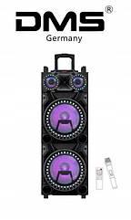 Колонка акустическая аккумуляторная DMSK8-24W2 USB/SD/MP3/WMA, Wireless LED