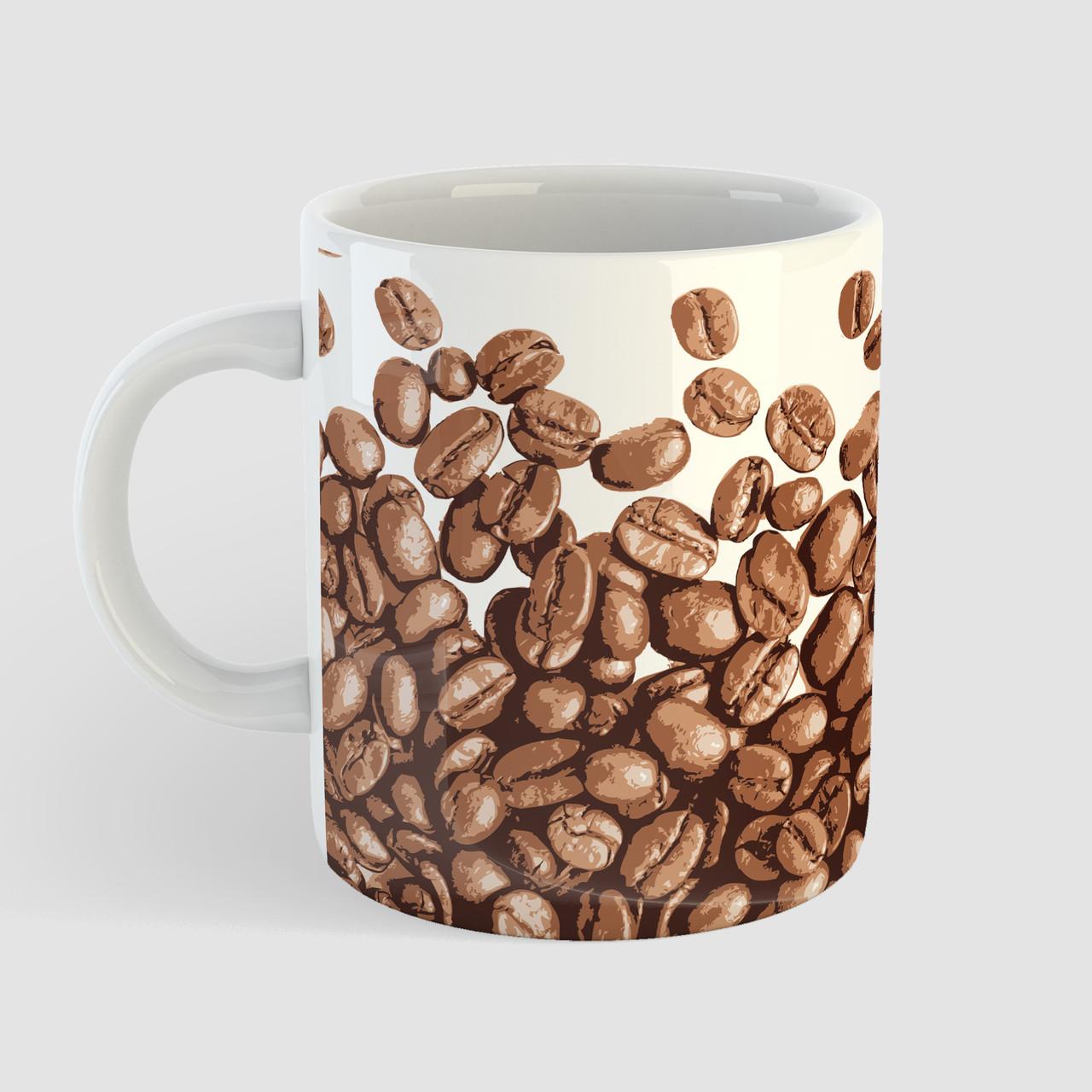 Кружка с принтом Кофе. Coffee art 5. Чашка с фото
