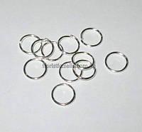 Кольцо соединительное 10 мм серебро