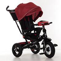 Детский трехколесный велосипед. пульт, МР3, цвет бежевый. Turbo Trike M 4060HA-1L