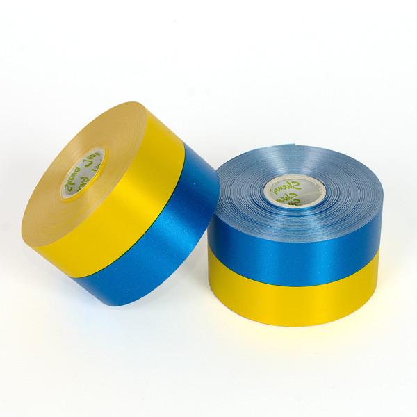 Лента желто-синяя,5см/50 м