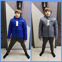 """Демисезонная куртка двусторонняя для мальчиков и подростков """"Арсен"""", размеры на рост 98 - 164"""