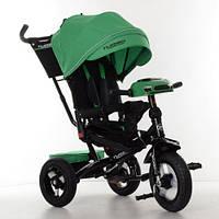 Трехколесный велосипед для ребенка., пульт, МР3, цвет зеленый. Turbo Trike M 4060 - 4