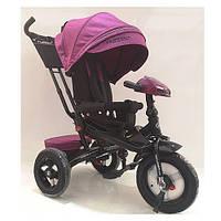 Детский трехколесный велосипед. пульт, МР3, цвет пурпурный. Turbo Trike M 4060HA-18T