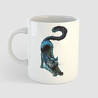 Кружка с принтом Кот арт. Cat art. Чашка с фото, фото 1