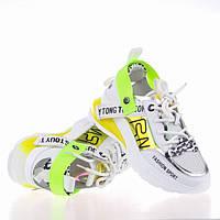 Стильные яркие кроссовки Lonza 90166 YELLOW ВЕСНА 2020, фото 1