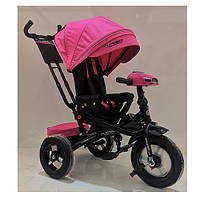 Детский трехколесный велосипед. пульт, МР3, цвет розовый. Turbo Trike M 4060HA-6