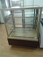Витрина кондитерская ВХС-0,9д Carboma  Cube Люкс (Техно)0..+7, фото 1
