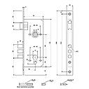 Замок врезной цилиндровый для дверей Apecs (Апекс) 2600-CR, фото 3