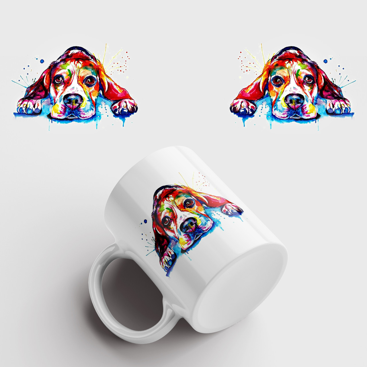 Кружка с принтом Собака. Dog art 2. Чашка с фото