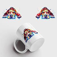 Кружка с принтом Собака. Dog art 2. Чашка с фото, фото 1