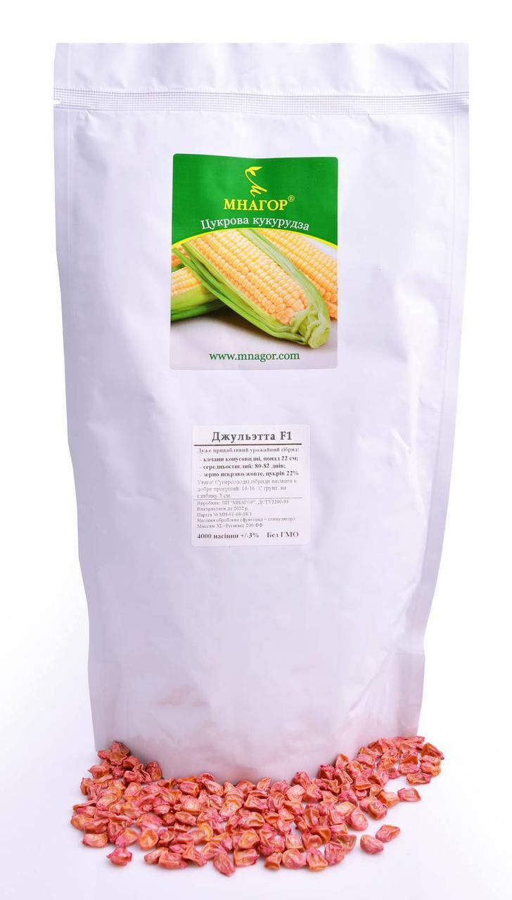 Сахарная кукуруза Джульетта F1, Sh2-тип, 200 семян на 30 м², 80-83 дней среднеспелый