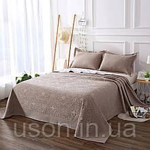 Покрывало на кровать с наволочками Arya 230X250 ARREDA светло-коричневый