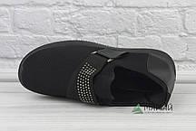 38р Кросівки жіночі в сітку чорні, фото 3