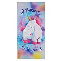 Пляжное полотенце Единорог Fluffy Unicorn, фото 1