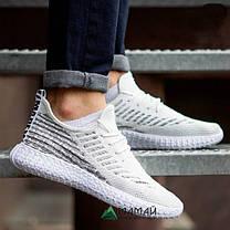 Кросівки чоловічі сітка білі, фото 3